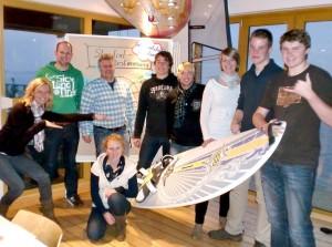 Gruppenbild der Workshop-Teilnehmer: v. l. n. r. Carolin Hartwig (KSB), Markus Löpker, Thorsten Bastek, Lara Friedetzky, Markus Feldmann (alle WSCE), Sven Kammeyer (KSB), Irene Heitker, Daniel Beisheim, Jan Friedetzky (alle WSCE)